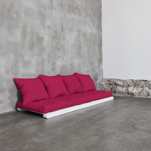Szezlong Karup Figo, White/Pink, 70 cm