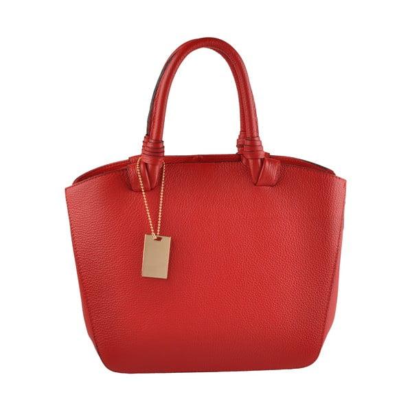 Skórzana torebka Emilio Masi Bristol, czerwona