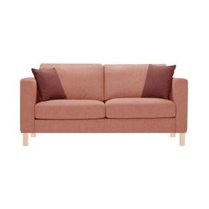 Pomarańczowa sofa trzyosobowa z 2 różowymi poduszkami Stella Cadente Canoa