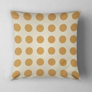 Poduszka Big Yellow Dots, 43x43 cm