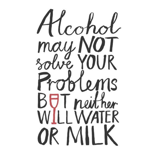 Plakat Alcohol Problems, 30x40 cm