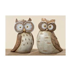 Zestaw 2 dekoracji ogrodowych Hermine Owl
