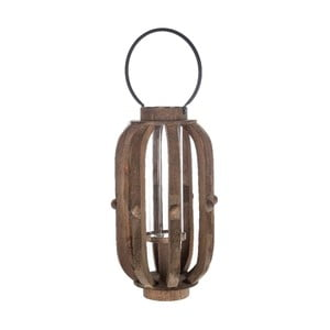 Lampion drewniany Brown, 30x49 cm