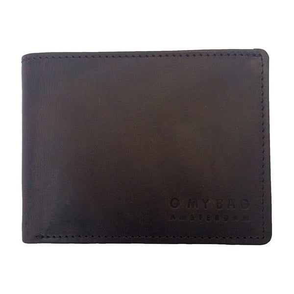 Skórzany portfel Tobi's, ciemnobrązowy