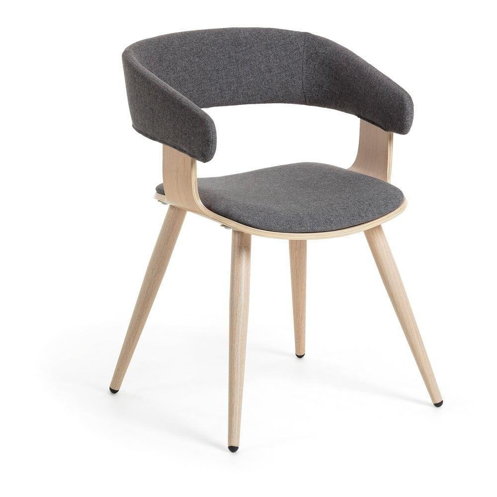 Szare krzesło La Forma Heiman