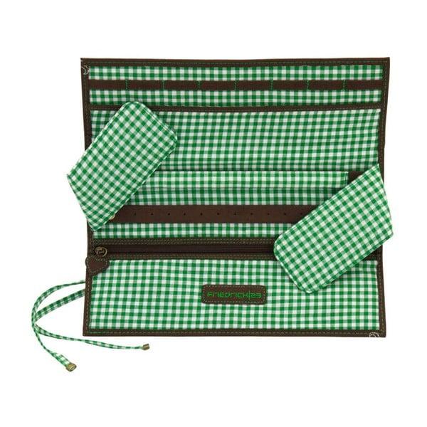 Szkatułka na biżuterię Roll Bavaria Brown/Green, 27x9,5x3 cm