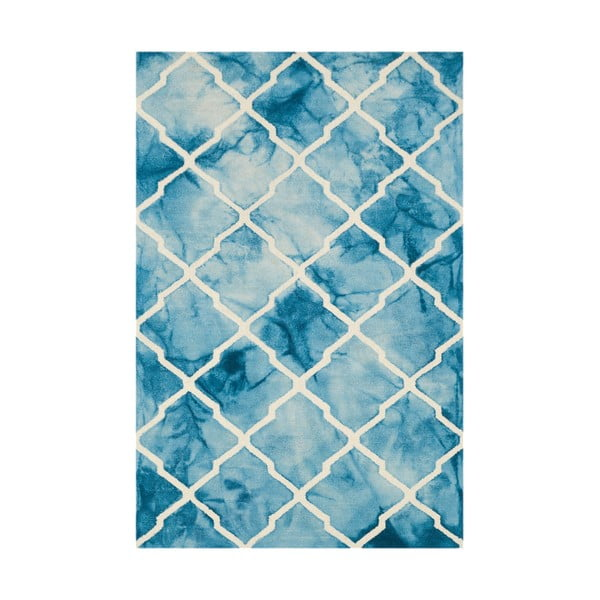 Niebieski dywan tuftowany ręcznie Bakero Batik, 153x244 cm