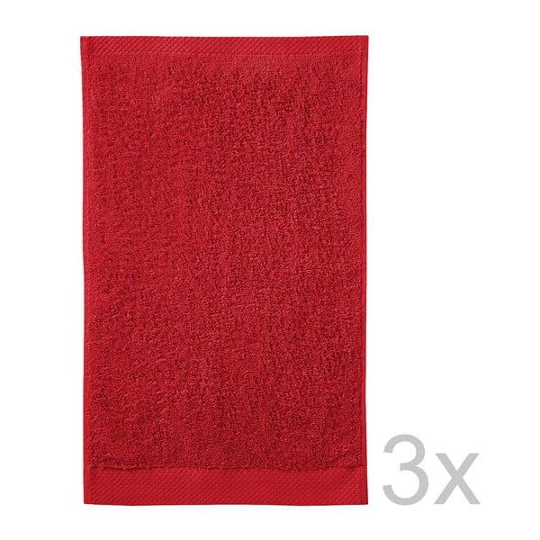 Komplet   3 ręczników Pure Red, 30x50 cm