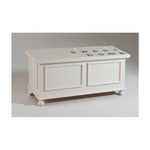 Biała skrzynia drewniana Castagnetti Home