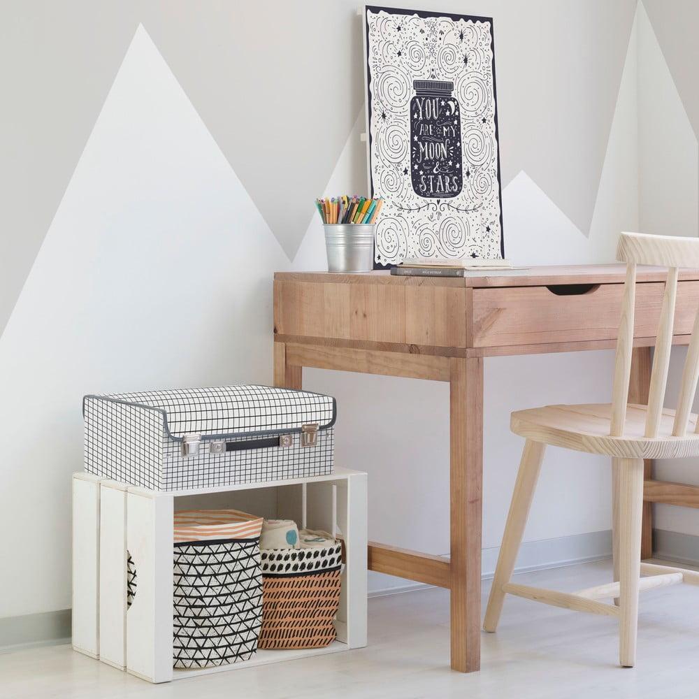 kuferek dzieci cy w kratk little nice things bonami. Black Bedroom Furniture Sets. Home Design Ideas