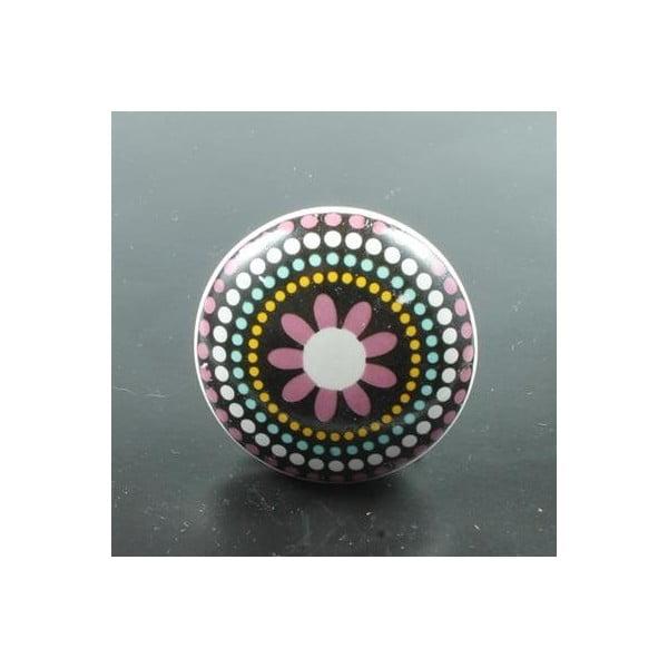Gałka porcelanowa Pink Flower