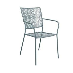 Szare krzesło z podłokietnikami Butlers Nancy