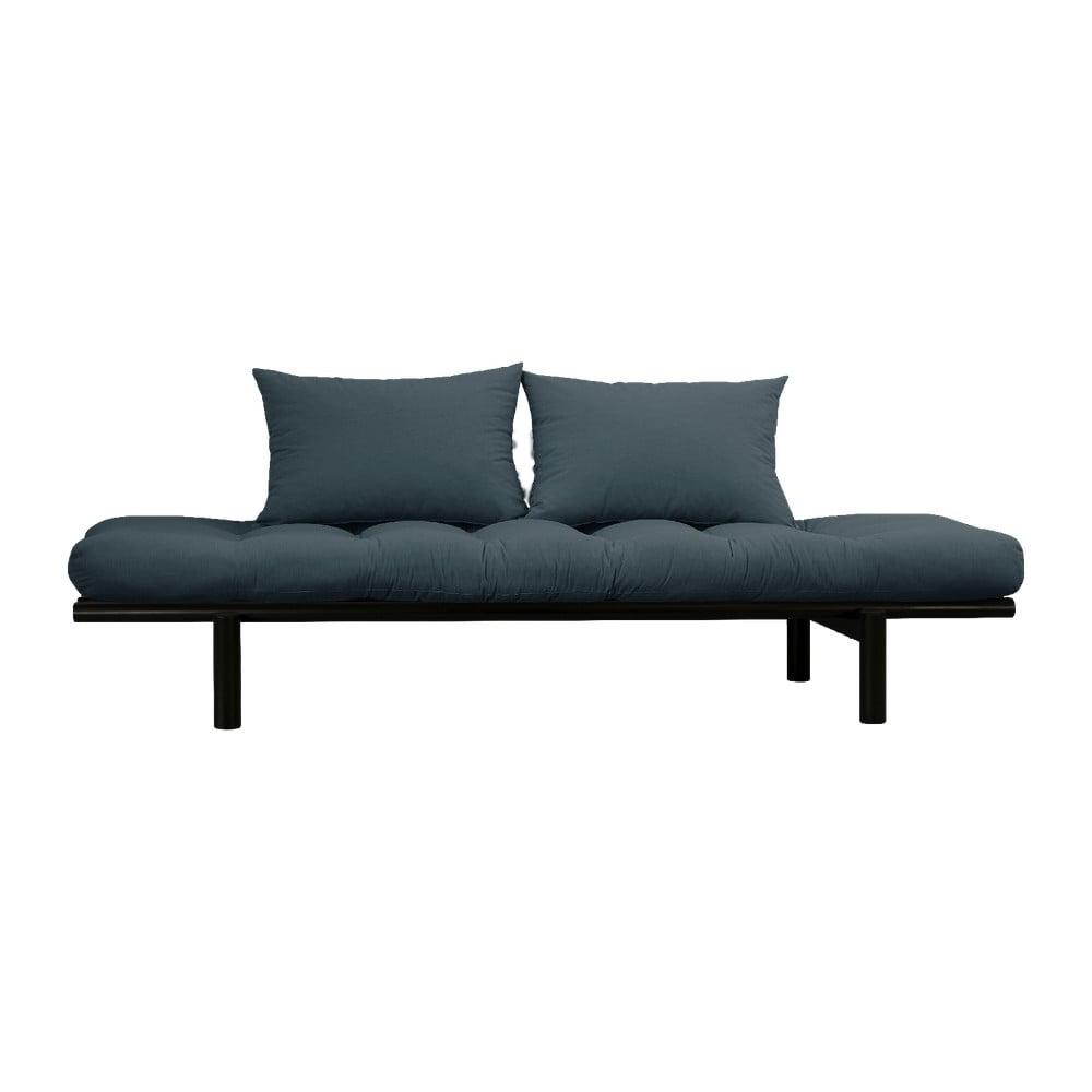 Sofa z niebieskozielonym pokryciem Karup Design Pace Black/Petrol Blue