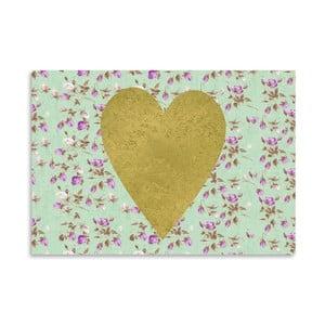 Plakat Americanflat Heart on Mint, 30x42 cm
