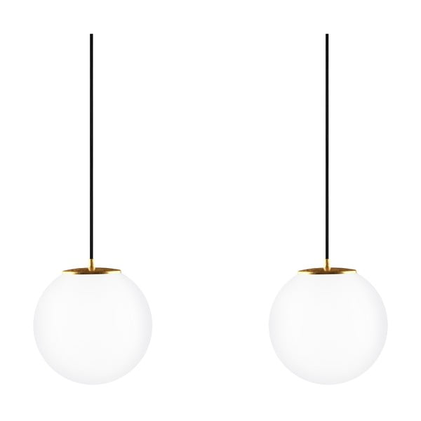 Lampa podwójna Tsuki M Elementary opal matte/gold/black/black