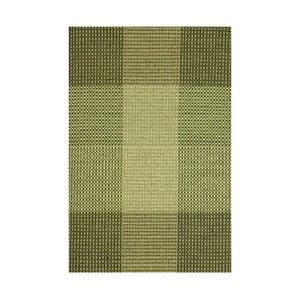 Zielony dywan wełniany ręcznie tkany Linie Design Genova, 170x240cm