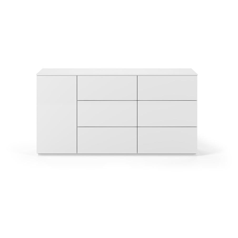 Biała komoda z drzwiczkami i 6 szufladami TemaHome Join