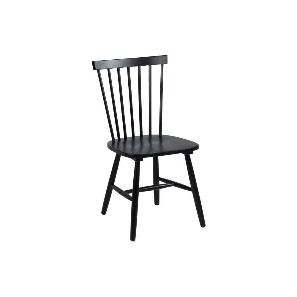 Zestaw 2 czarnych krzeseł Actona Riano Dining Set