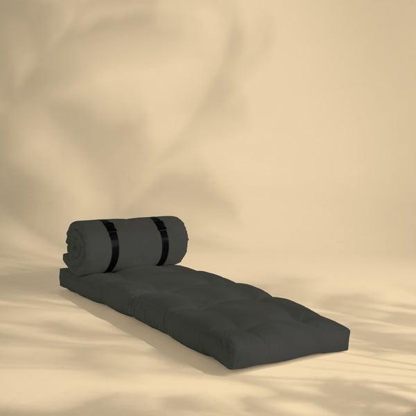 Ciemnoszary fotel rozkładany odpowiedni na zewnątrz Karup Design OUT™ Buckle Up Dark Grey