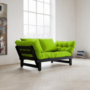 Sofa rozkładana Karup Beat Black/Lime