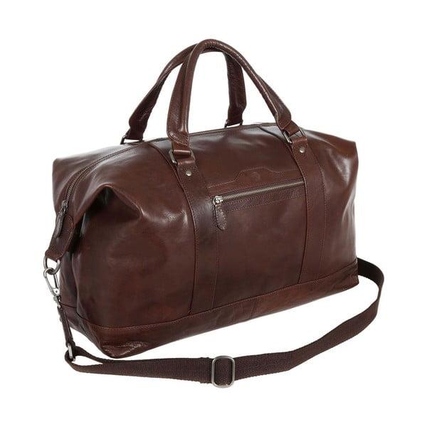 Podróżna torba skórzana Monty Brown