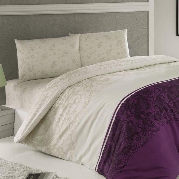 Zestaw pościeli Luxury Time Purple, 240x220 cm