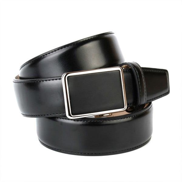 Pasek skórzany męski 17010S Black, 90 cm
