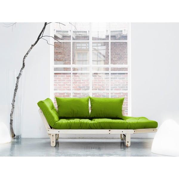 Sofa rozkładana Karup Beat Natural/Lime
