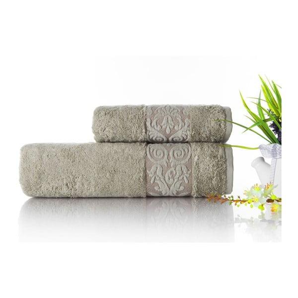 Zestaw 2 ręczników Bamboo Glory Green, 50x90 cm i 70x140 cm
