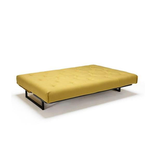Żółta sofa rozkładana Innovation Fraction