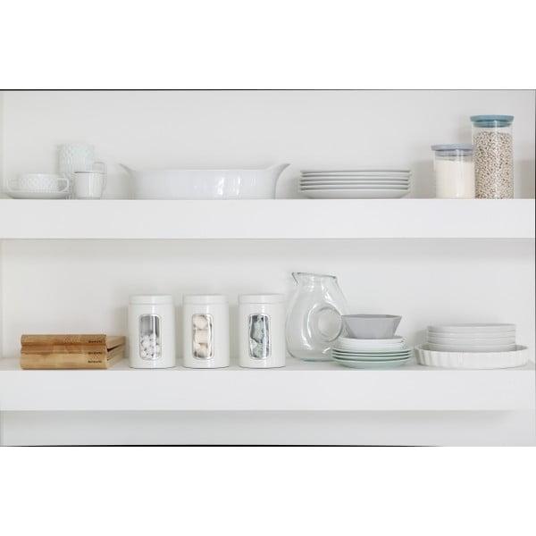 Zestaw 3 białych pojemników kuchennych Brabantia, 1,4 l