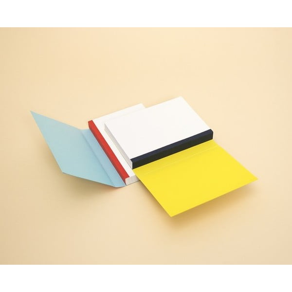 Notes FANTASTICPAPER XL Skyblue/Warm Red, w linie