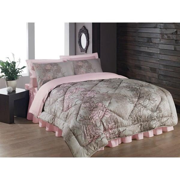 Narzuta, poszewki na poduszkę i ozdobna falbana wokół łóżka Gumuse, 195x215 cm