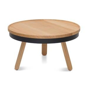 Czarno-brązowy stolik ze schowkiem Woodendot Batea M