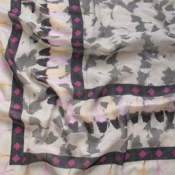 Wełniana chusta z dodatkiem kaszmiru Plumiere, 130x130 cm