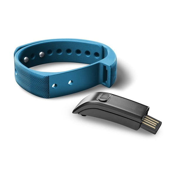 Opaska sportowa bluetooth CellularLine EASYFIT, niebiesko-czarna
