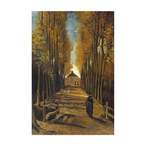 Reprodukcja obrazu Vincenta van Gogha - Avenue of poplars in autumn, 40x26 cm