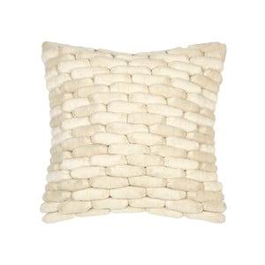 Beżowa poduszka ZicZac Cobble Stone, 45x45 cm