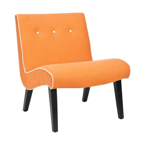 Pomarańczowy fotel Safavieh Mandel