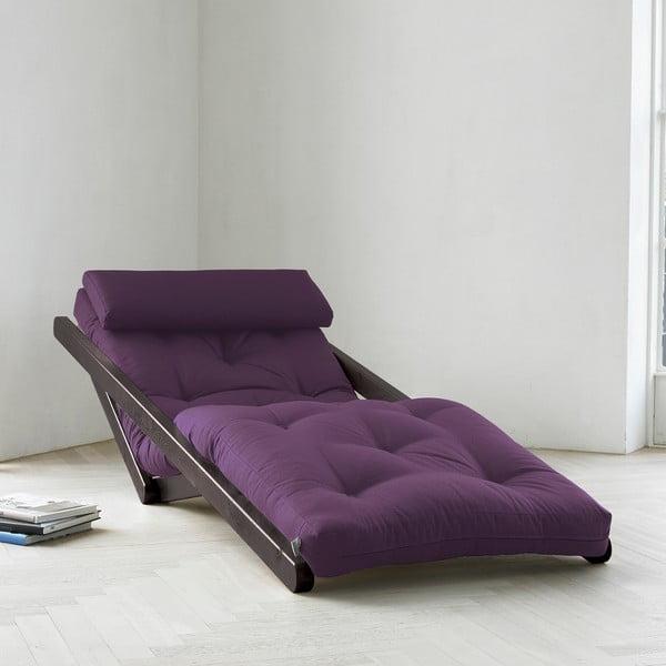 Szezlong Karup Figo, Wenge/Purple, 70 cm