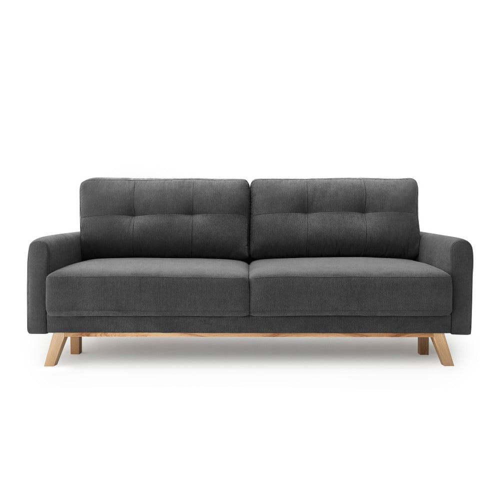 Ciemnoszara sofa rozkładana Bobochic Paris Balio Enjoy