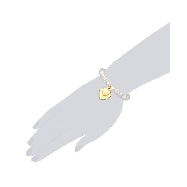 Bransoletka z białych pereł ⌀ 8 mm Perldesse Ode, długość 19 cm