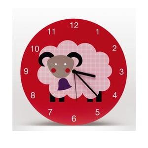Zegar ścienny Marketa, czerwony