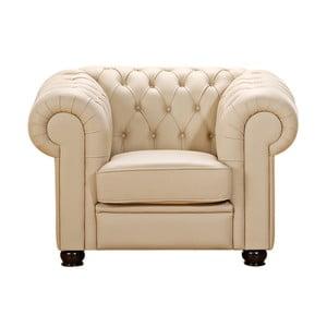 Beżowy fotel ze skóry ekologicznej Max Winzer Chandler