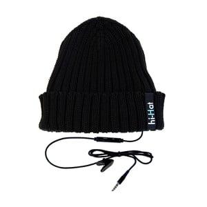 Czapka Hi-Hat ze słuchawkami, czarna