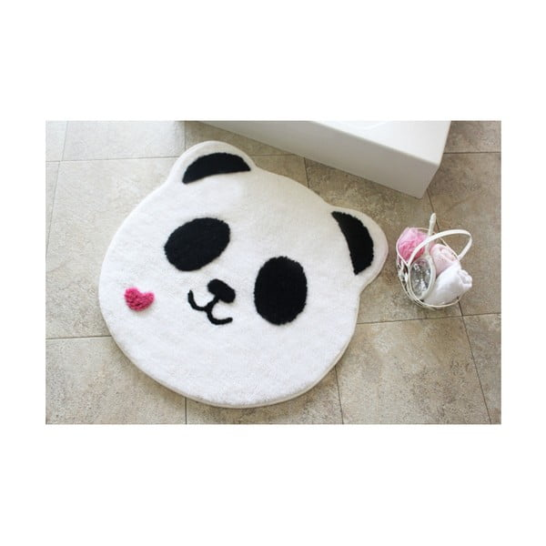 Dywanik łazienkowy Alessia Panda Shape, Ø 90 cm
