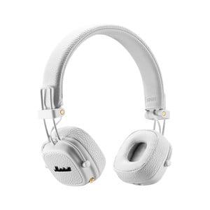 Białe słuchawki bezprzewodowe Marshall Major III