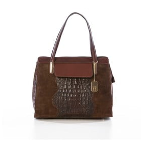 Skórzana torebka Croco Brown