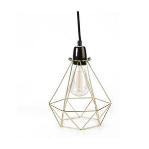 Złota lampa wisząca z czarnym kablem Filament Style Diamond #1
