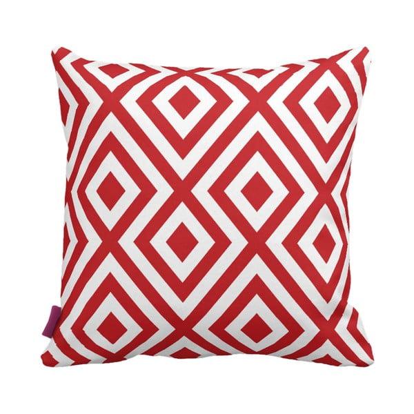 Czerwono-biała poduszka Geometric Red, 43x43 cm